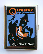 Halloween Cigarette Case Wallet Business Card Holder retro october WPA poster