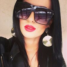 BLACK FLAT TOP SUNGLASSES women oversized xl xxl large huge big shield designer