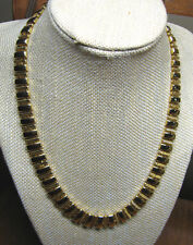 Glossy NAPIER Necklace Estate Find Textured Gold Tone Link Chain 18""