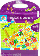 Kids Snakes & Ladders Classic Board Games Childrens Magnetic Snakes And Ladders