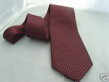"(013) de seda-red/burgundy Tiny Diamantes shapes-mens necktie-ties -3.5 "" = 9 Cm Ancho"
