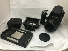 Bronica SQ-A 6x6 Film Camera w/ Zenzanon-PS 80 mm lens Kit and accessories