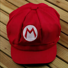 Chic Super Mario Bros Cosplay Adult Size Hat Cap Baseball Costume Red Color New
