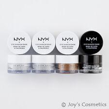 """4 NYX Eyeshadow Base Primer """"White, White Pearl, Skin Tone, Black Set"""" *Joy's*"""
