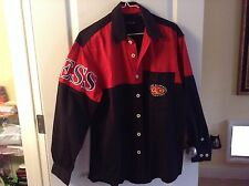 GUESS CLASSICS   Vtg 80s/90s Cotton LOGO button down Shirt red-black Med/Large