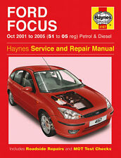 Haynes Ford Focus 2001-2005 1.4 1.6 1.8 2.0 Petrol 1.8 Diesel Manual 4167 NEW