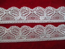New! 5 yards white lace pattern beautiful butterfly stretch lace free shipping
