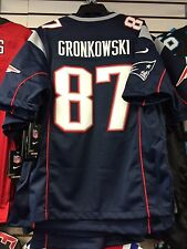 New England Patriots Rob Gronkowski Limited Jersey NFL Football Large Blue Home