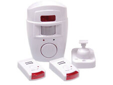 PIR Motion Sensor Burglar Anti theft deterrent Alarm with 2 Remote Controls
