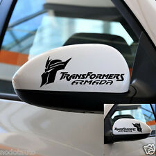 Car TRANSFORMERS Wing Mirror Decals Vinyl Cartoon sticker 2Pcs set #TF13