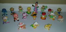Vintage STRAWBERRY SHORTCAKE Lot of 18 PVC Mini Miniatures Figures Free Shipping