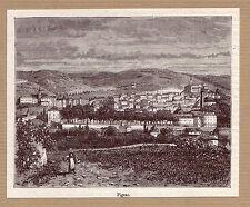 vue de Figeac  gravure ancienne 1882 / MB79