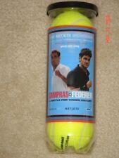 RARE Pete SAMPRAS vs Roger FEDERER NETJETS SHOWDOWN PENN TENNIS BALLS ATP # 1