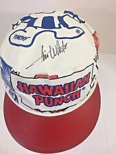 Vtg Hawaiian Punch Painters Cap Hat PUNCHY Jim White Signature Red White Blue