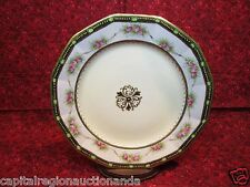 "Vintage Nippon Porcelain Hand Painted Gold Gilted & Flowers 9-1/2"" Dinner Plate"