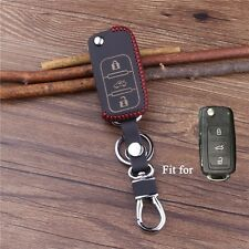 Leather car key For Skoda Octavia Fabia Superb,Rapid, Yeti car accessories cover