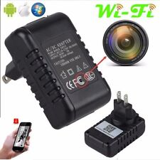 HD 1080P Hidden SPY  WIFI IP Camera Wall Charger Adapter DVR Video Recorders Cam