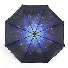 Hot Outdoor Chic Starry Sky Sunscreen  Automatic Folding Compact Umbrella