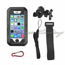 Waterproof Case Motorcycle Bike Sports Handle Bar Mount Holder For iPhone 5 5S
