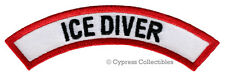 ICE DIVER CHEVRON - SCUBA DIVING iron-on DIVE PATCH embroidered applique