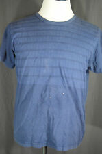 Burberry Navy T-Shirt Large Made in Great Britain Short Sleeve 100% Cotton Stain