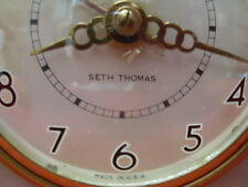 VINTAGE ART DECO SETH THOMAS BRASS/BRONZE AND MARBLE MANTLE CLOCK