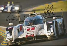 Marc Gene y Lucas di Grassi Audi R18 e-tron Quattro mano firmado 12x8 Foto 3.