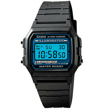 Casio F105W-1A, Digital Chronograph Watch, Black Resin Band, Alarm