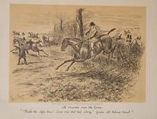 Chasseur Fuchs Jagd Reiter Reitpferd England Karikatur Mode hunter hunting Fox