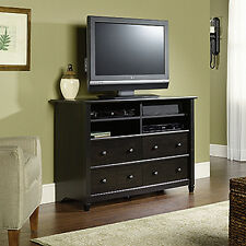 Highboy TV Stand - Estate Black - Edge Water Collection (409242)