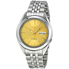 SEIKO MEN AUTOMATIC SEE THRU GOLD DIAL STEEL WATCH SNKL21 SNKL21K1