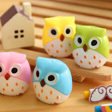2Pc Mini Funny Cute Lovely Owl Pattern Pencil Sharpener School Kids Favorite