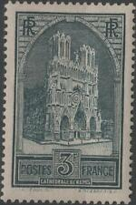 "FRANCE STAMP TIMBRE N° 259 "" CATHEDRALE REIMS 3F TYPE I "" NEUF xx TTB  H253"