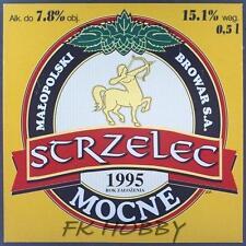 Poland Brewery Jędrzejów Strzelec Beer Label Bieretikett Centaur Horse je72.1