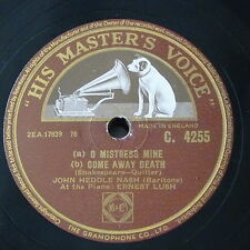 "78rpm 12"" JOHN HEDDLE NASH o mistress mine / come away death / lover & his lass"