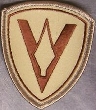 Embroidered Military Patch USMC 5th Marine Division NEW desert