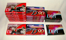 Lot of 17 Maxell-TDK-Fugi Cassette Tapes (new old stock sealed)