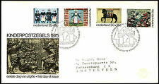 Netherlands 1975 Child Welfare, Historic Ornamental, FDC First Day Cover #C36143