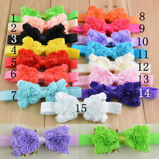 10pcs Girl Baby Toddler Lace Flower Headband Hair Bow Band Headwear Accessories