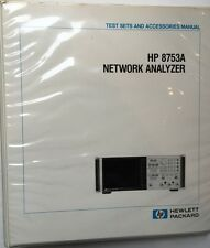 HP 8753A Network Analyzer Test Sets & Accessories Manual P/N 08753-90021