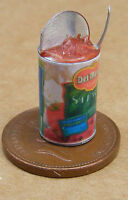 1:12 Scale Open Tin Of Stewed Tomatoes Dolls House Miniature Kitchen Accessory