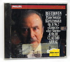 "Arrau - Beethoven: Piano Sonatas Op 31 ""Tempest""/Op 110 ~ NEW CD (1991, Philips)"