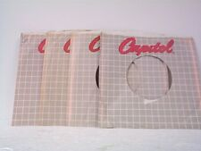 4-CAPITOL RECORD COMPANY 45's SLEEVES  LOT # A-330