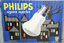 AFFICHE ANCIENNE  GUY GEORGET LAMPES PHILIPS ARGENTA SUPERLUX