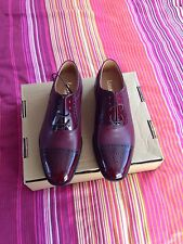 brand new loake brogues in beautiful wine red colour size uk 8.5