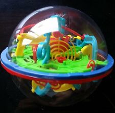 """3D Maze Puzzle Labyrinth in a sphere with 100 challenging barriers 4""""Pocket Size"""