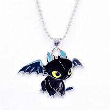 Collar de Cadena Gargantilla Colgante dragón joyería Cosplay Necklace