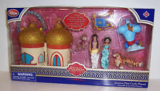 Disney ALADDIN MINI CASTLE PLAY SET JASMINE GENIE ABU RAJAH Figures Dolls NEW!!