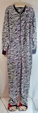 Betty Boop One Piece Footed Pajamas Zebra Print XXL Fleece