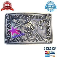 Kilt Belt Buckle Saltire Lion Rampant Antique Finish/Lion Rampant Kilt Buckles